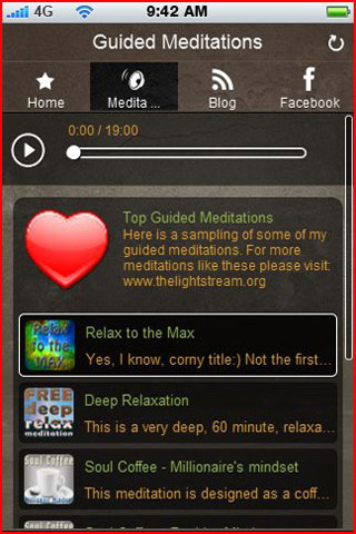 My guided meditation application and mobile website